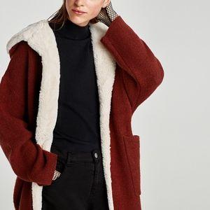 Zara | Soft Faux Fur Lined Hooded Cardigan Sweater